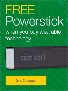 FREE Powerstick when you buy wearable technology.