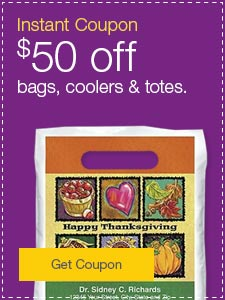 Instant Coupon. $50 off bags, coolers & totes.