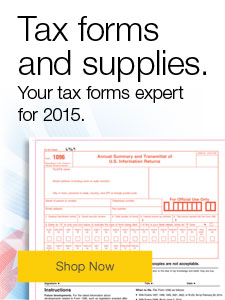Tax forms and supplies.