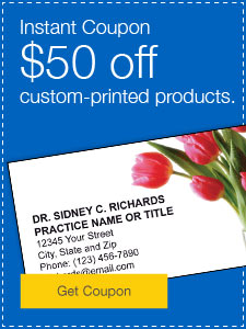 $50 off custom-printed products.
