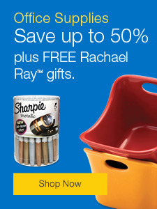 Office Supply Specials - Save up to 60%, plus FREE Rachael Ray gifts.