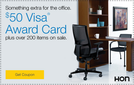Something extra for the office. $50 Visa® Award Card plus over 200 items on sale.