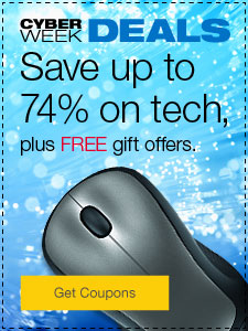 Cyber Week Deals Save up to 74% on tech, plus FREE gift offers.
