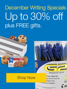 December Writing Specials - Save up to 30% on pens, pencils and markers, plus FREE gifts.