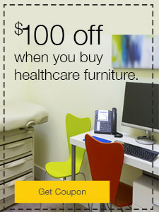 $100 off when you buy healthcare furniture.