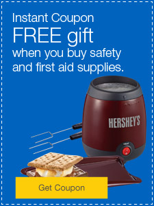 FREE gift or $15 off when you buy safety and first aid supplies.