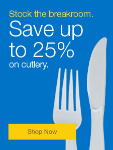 Stock the breakroom. Save up to 25% on cutlery.