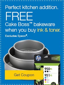 Perfect kitchen addition. FREE Cake Boss™ bakeware when you buy ink & toner. Excludes Epson®.