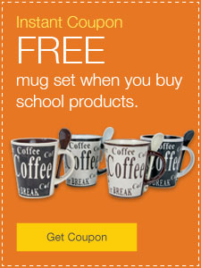 FREE mug set when you buy school products.