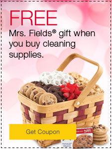 FREE Mrs. Fields® gift when you buy cleaning supplies.