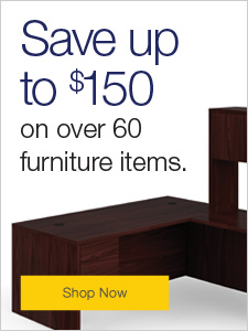 Save up to $150 on over 60 furniture items.