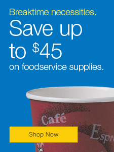 Save up to 45% on foodservice supplies.