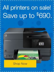 All printers on sale! Save up to $690.