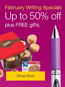 February Writing Specials. Up to 50% off plus FREE gifts.