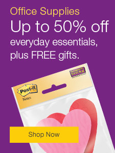 Office Supplies - Up to 50% off everyday essentials, plus FREE gifts.