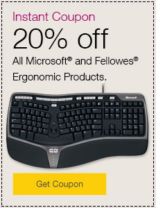 20% off ergonomic products.