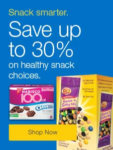 Snack smarter. Save up to 30% on healthy snack choices.