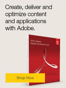 Create, deliver and optimize content and applications with Adobe.