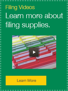 Filing Videos Learn more about filing supplies.