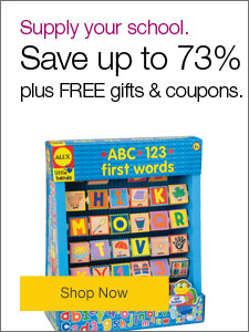 Supply your school. Save up to 73%, plus FREE gifts and coupons.