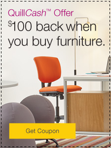 QuillCash™ offer. $100 back when you buy furniture.