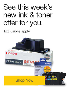 See this week's new ink & toner offer for you.
