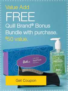 Value Add FREE Quill Brand® Bonus Bundle with purchase. $50 value.