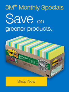 Save on greener products.