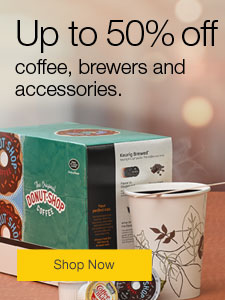 Up to 50% off coffee, brewers and accessories.