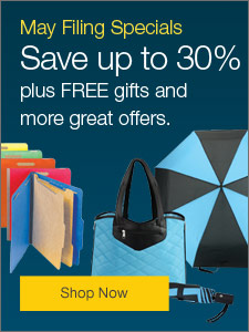 May Filing Specials - Save up to 30% plus, free gifts and more great offers.