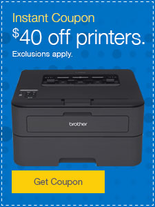 $40 off printers. Exclusions apply.
