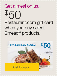 $50 restaurant.com gift card when you buy select Smead® products.