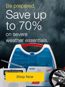 Save up to 70% on severe weather essentials.