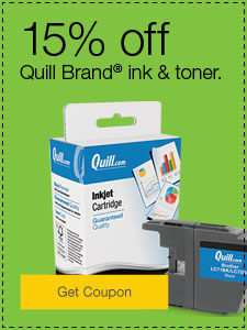 15% off Quill Brand® ink & toner.