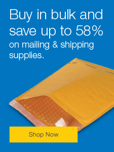 Buy in bulk and save up to 58% on mailing & shipping supplies.