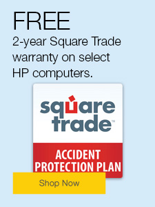 FREE 2-year Square Trade warranty on select HP computers.