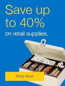Save up to 40% on retail supplies.