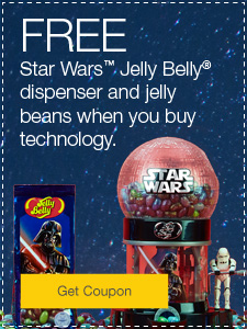FREE Star Wars™ Jelly Belly® dispenser and jelly beans when you buy technology.