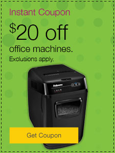 $20 off office machines.