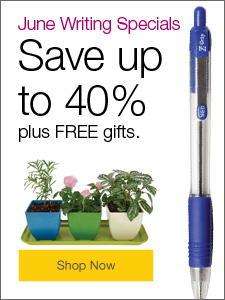 June writing specials. Save up to 40%, plus FREE gifts.