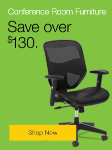 Save over $130 on conference room furniture.