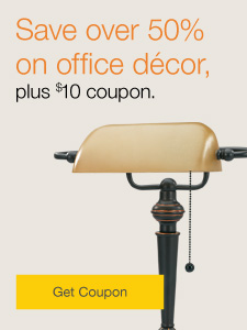 Décor Sale. Save over 50% on office décor.