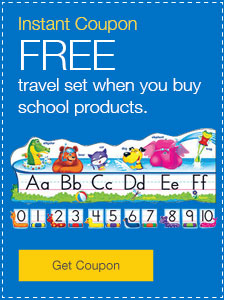 FREE travel set when you buy school products.