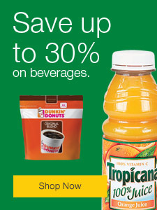 Save up to 30% on beverages.