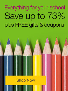 Everything for your school. Up to 73% off school supplies, plus FREE gifts and coupons.