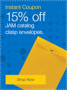 15% off regular-priced JAM catalog clasp envelopes.
