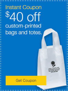 $40 off custom-printed bags and totes.
