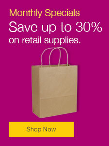 Save up to 30% on retail supplies.