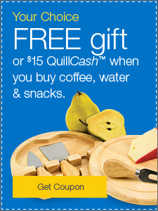 FREE cutting board set or $15 QuillCash™.