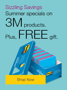 Summer specials on 3M products.Plus, FREE gift.